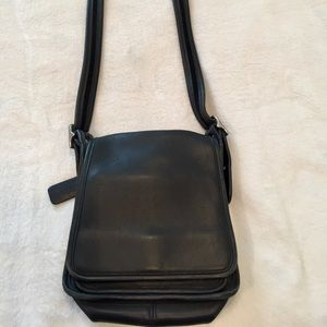COACH Black Leather Cross Body Purse